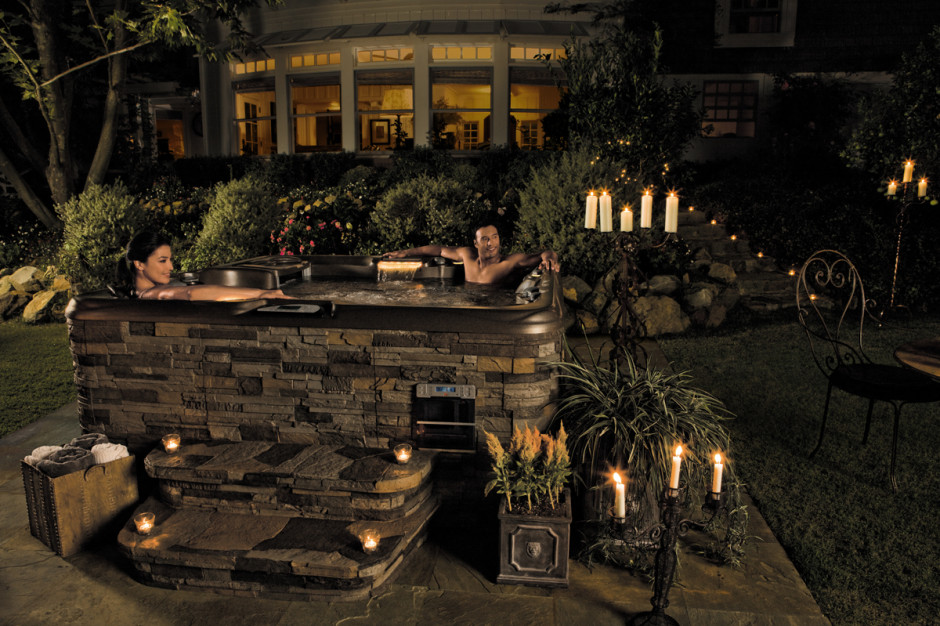 hot tub installations backyards of america hot tubs in